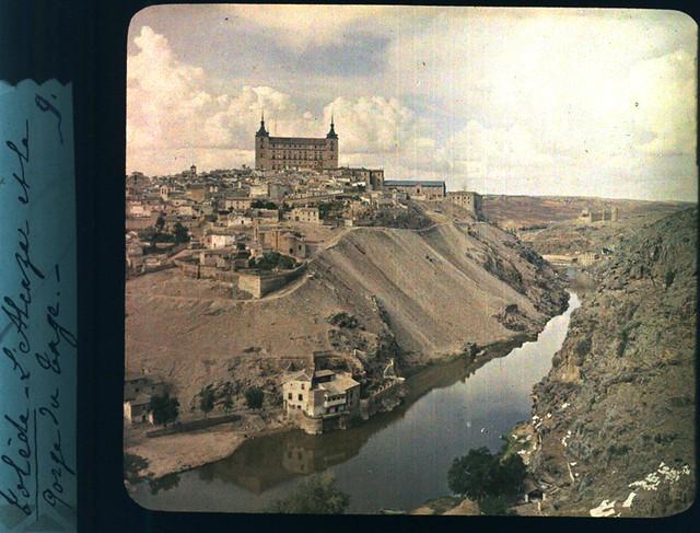 Toledo hacia 1915. Autocromo anónimo francés