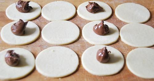 biscotti alla nutella in preparazione