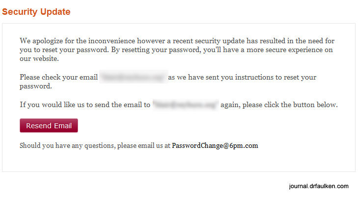 Zappos and 6pm.com User Accounts Compromised