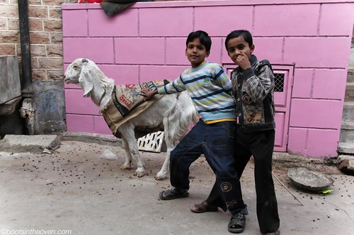 Kids with evil goat