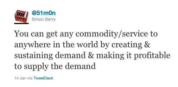 Distribution chain tweet