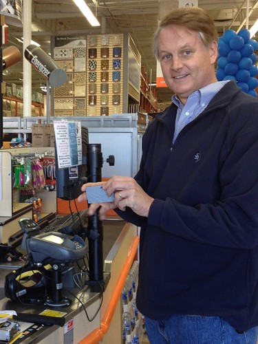 John Donahoe paying with PayPal at Home Depot