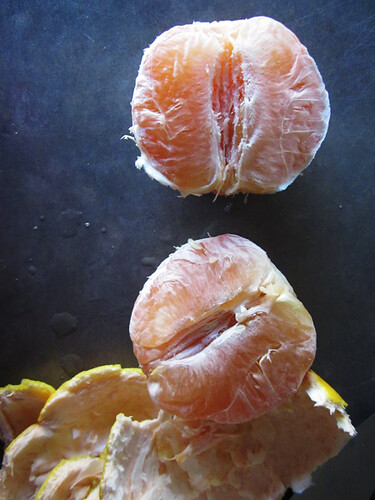 peeled and halved