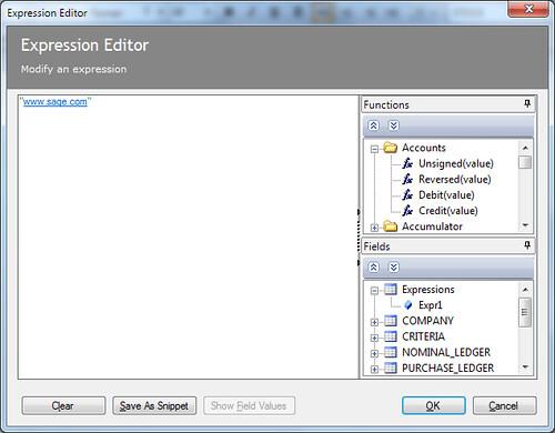 02 Expression editor