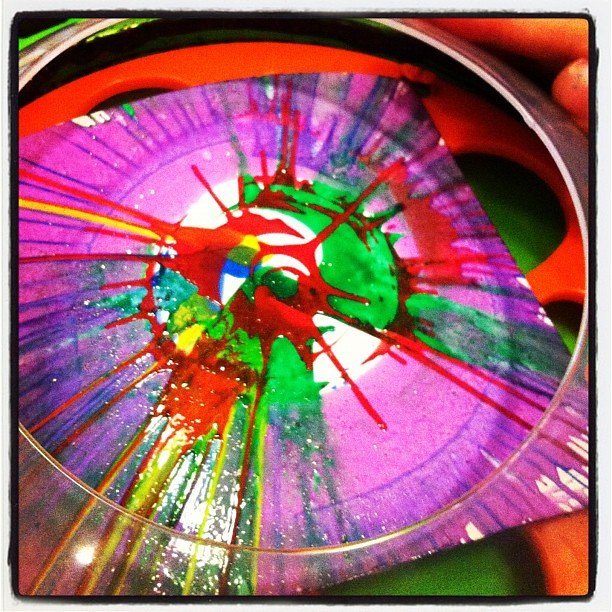 In the process!! #spinart