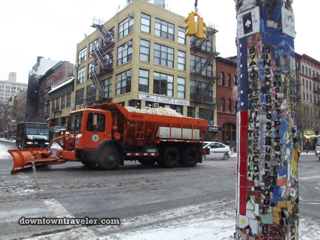 NYC Snowstorm East Village Jan 2012_Snow Plow