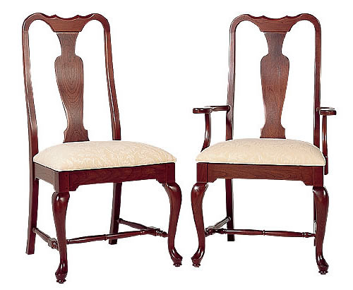 Cherry queen anne dining chairs flickr photo sharing for Dining room chairs queen anne