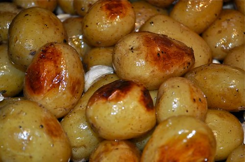 potatoes roasted in garlic, butter & olive oil feature