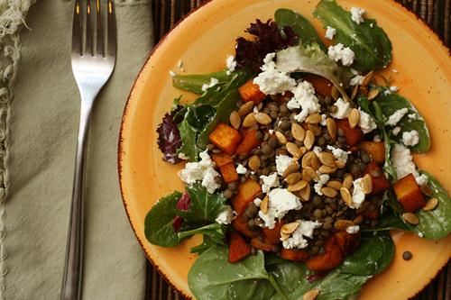 lentil squash salad 6