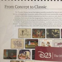 D23、2012年のカレンダーが届きました。今回のテーマは映画作品のコンセプトアート。