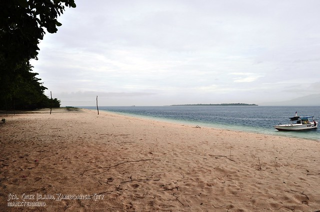 Pink Beach in Gloomy Weather