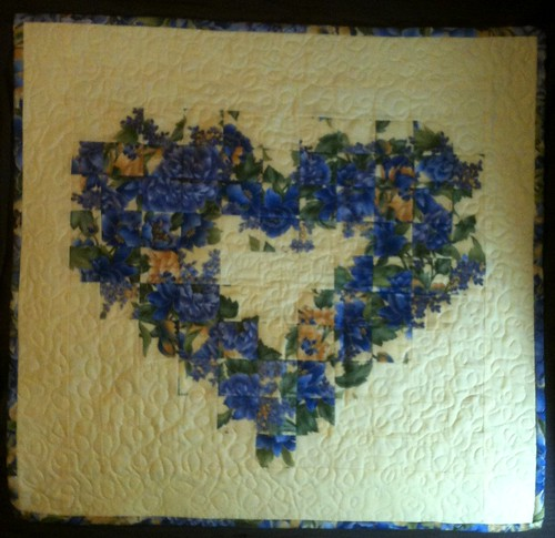 watercolor heart - a wallhanging for mom