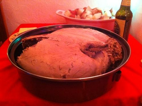 Haggis in the pan