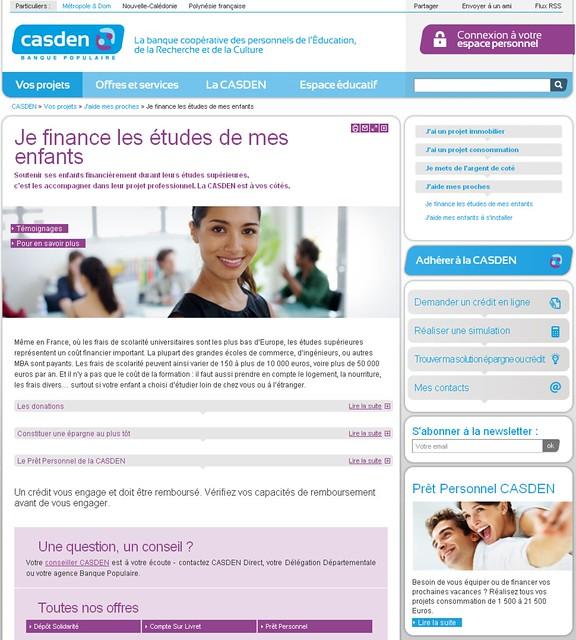 Casden.fr - page projet