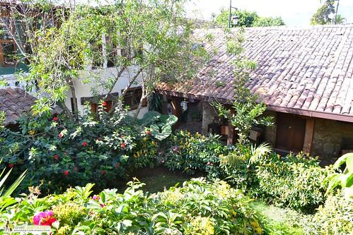 antigua hotel courtyard guatemala