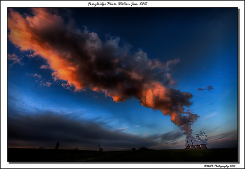 uk blue england sky nature clouds yorkshire steam pollution powerstation hdr pontefract ferrybridge efs1022mmf3545usm watervapour canon40d worldhdr ringexcellence dblringexcellence nhbphotography