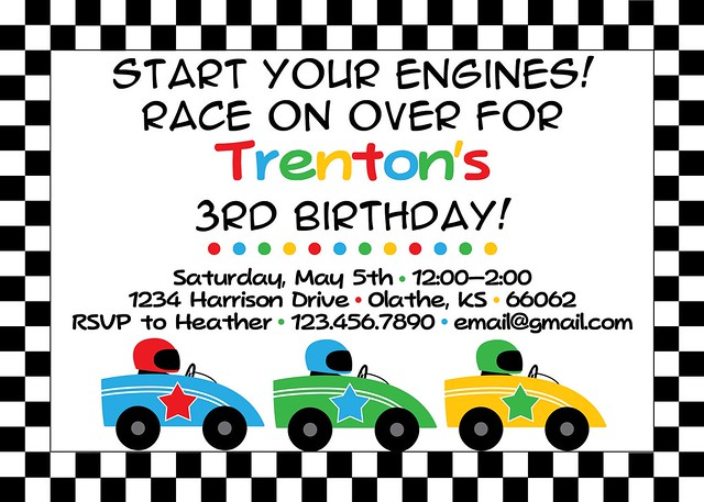 Racecar birthday