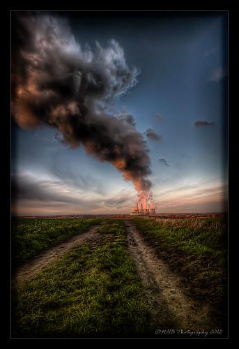 uk england sky cloud nature clouds track yorkshire farming steam fields powerstation pontefract ferrybridge efs1022mmf3545usm canon40d worldhdr ringexcellence dblringexcellence tplringexcellence nhbphotography eltringexcellence