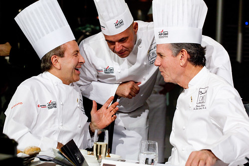 Happy moment with Chef Daniel Boulud, Jerome Bocuse, Thomas Keller