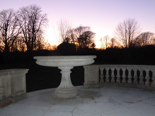 Garden Fountain at Twilight