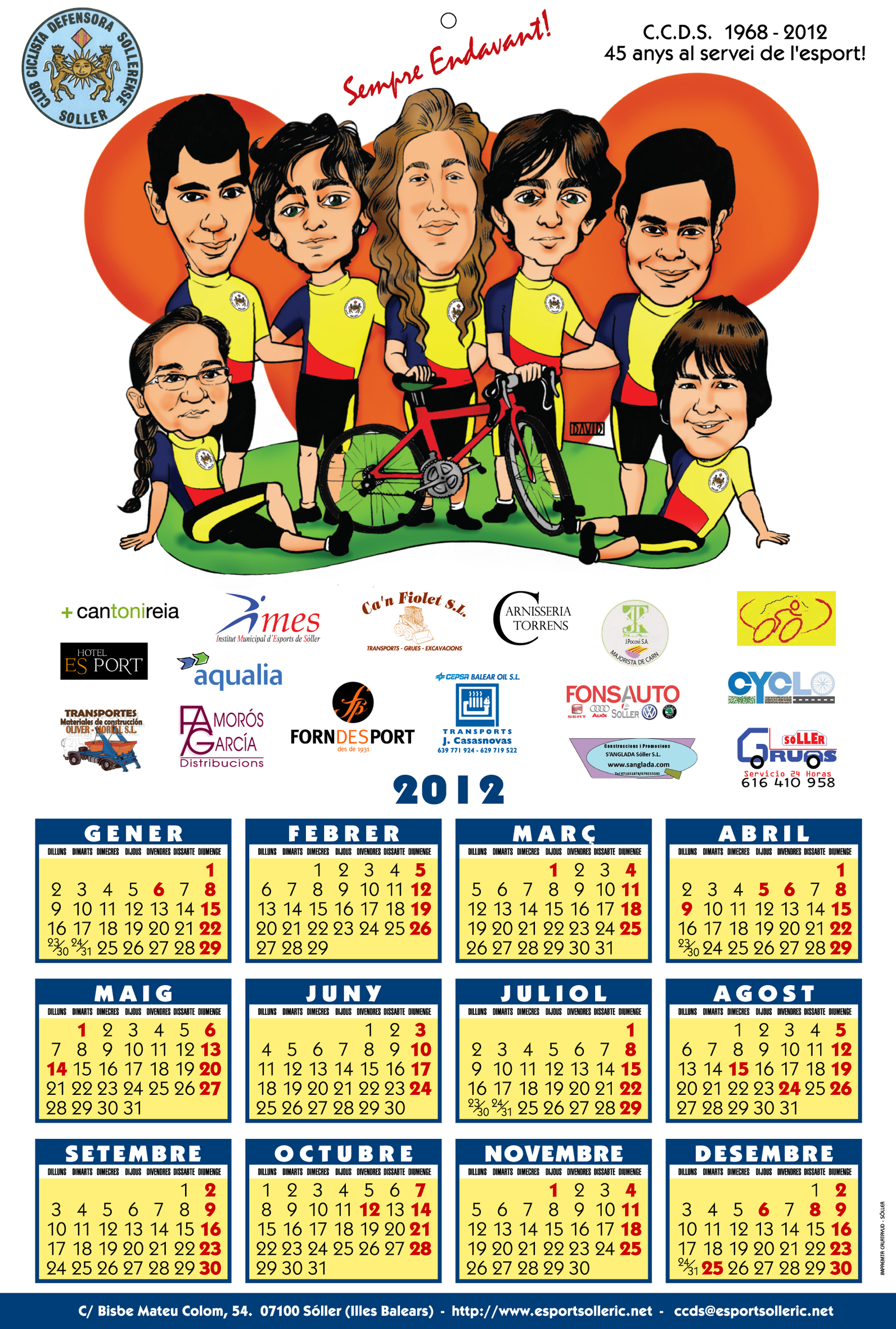 Calendari C.C.D.S. 2012.-