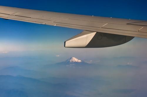 Monte Fuji desde el avión