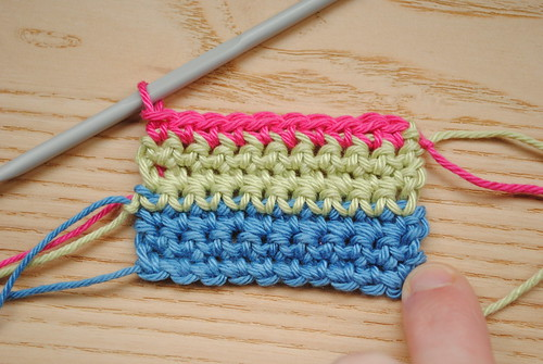 39. Rows 5-7 (keep working those SC stitches!)