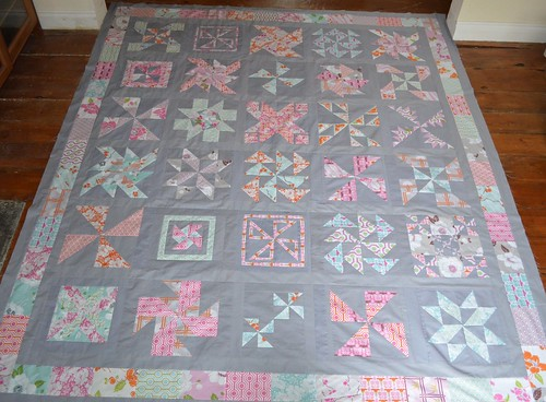Fresh Modern Bee 2 Quilt Top