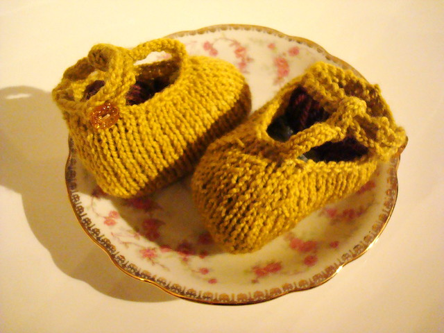 yellow booties