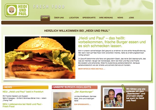 HOME - Heidi und Paul-Webseitenscreen