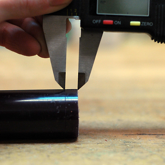 The wax gets sliced with a saw or in a cutting box