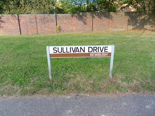 Classic Crawley street sign – Sullivan Drive, Bewbush