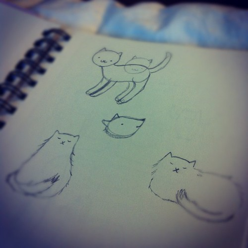 Cat sketches.