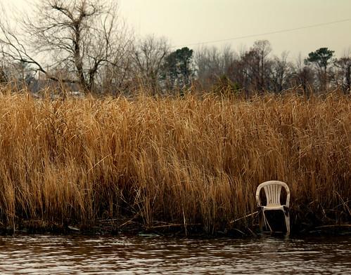 tree abandoned water grass canon river northcarolina plastic marsh emptyseat newbern onechair lawsoncreek t1i coastalcarolinas
