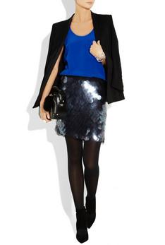 dkny paillette skirt