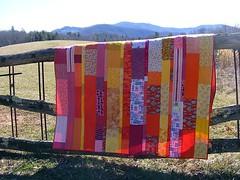 Stripey Scrappy Quilt