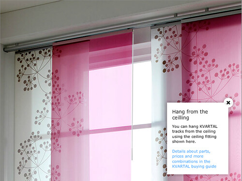 Ikea panel curtain inspiration