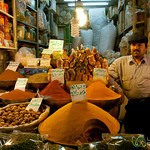 Spice Vendor at Market in Esfahan, Iran