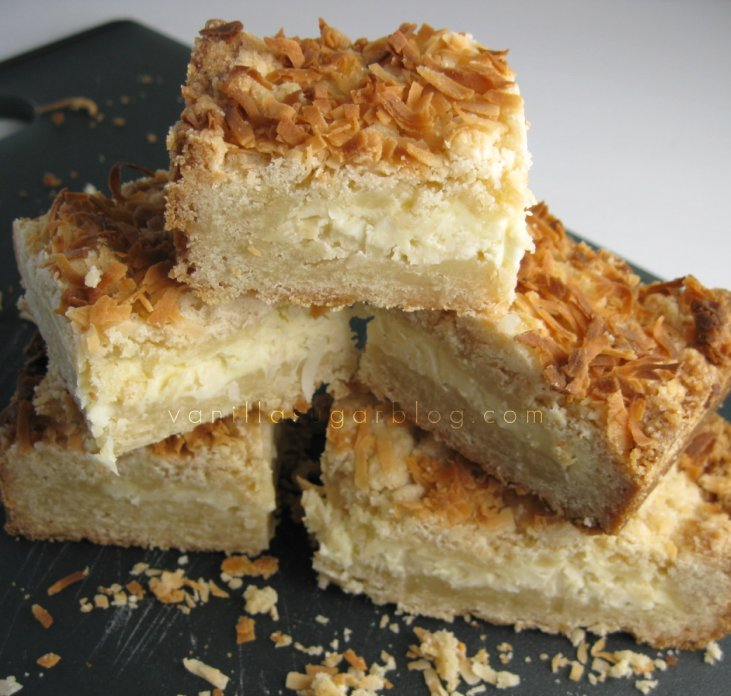 toasted coconut cream cheese bars 10