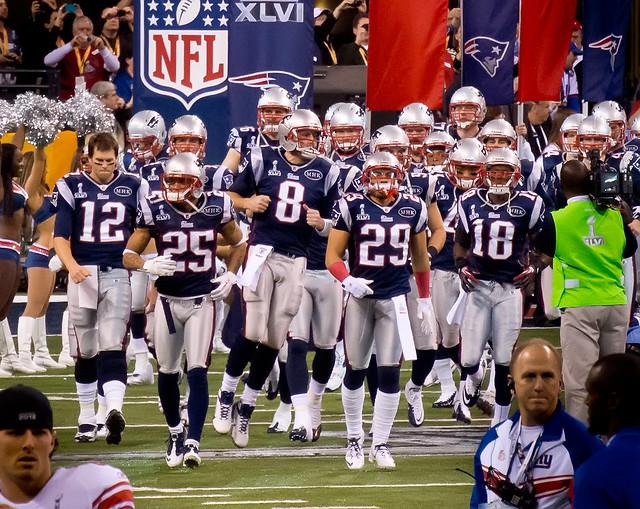 New England Patriots grand entrance