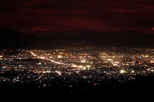 city night landscape bandung