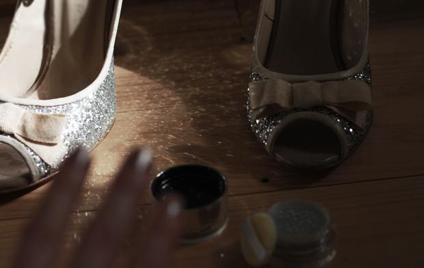 glitter nails silver b