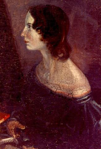 "alt=""Portrait of Emily Bronte from the 'Gun Group' by Branwell Bronte"""