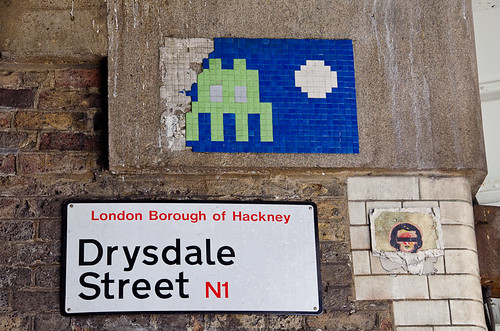 Space Invader - East London Street Art