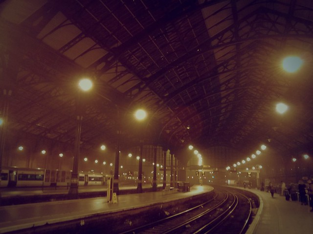 Brighton station - foggy night