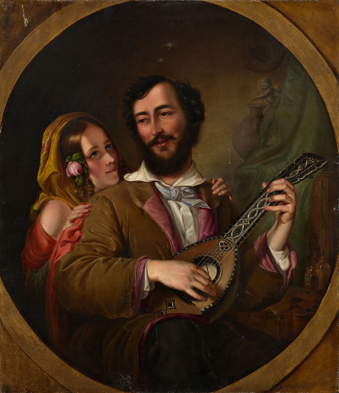 Mikhail Scotti - An Allegory of Love (1841)