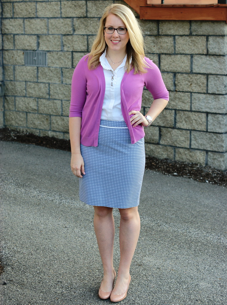 The Limited Dot Pencil Skirt