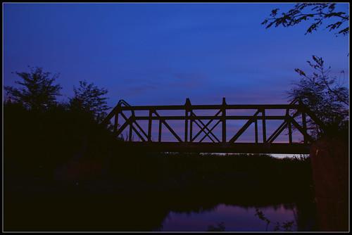 Atardecer en el Puente sobre el Rio Areco