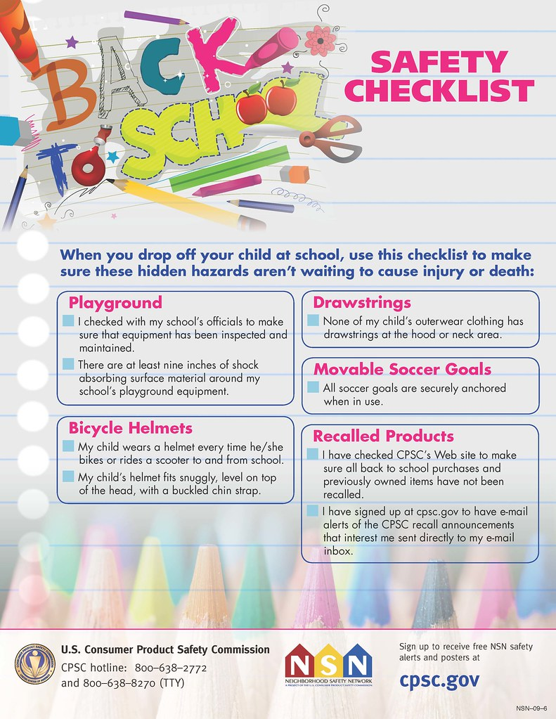 school safety hidden hazard checklist
