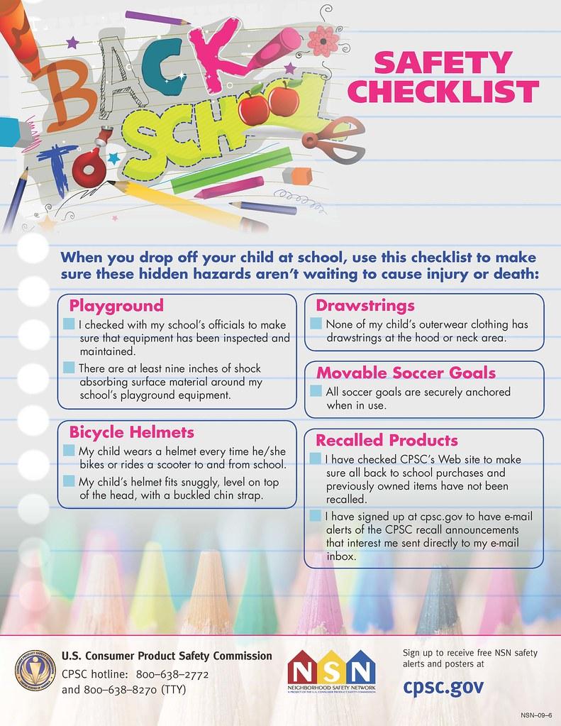 school safety hidden hazard checklist